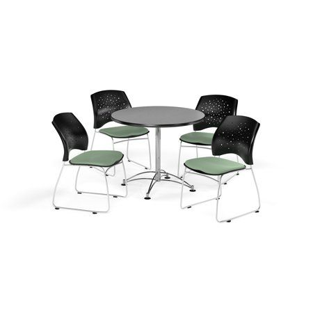 Ofm Multi Use Break Room Package 36 Inch Round Table With