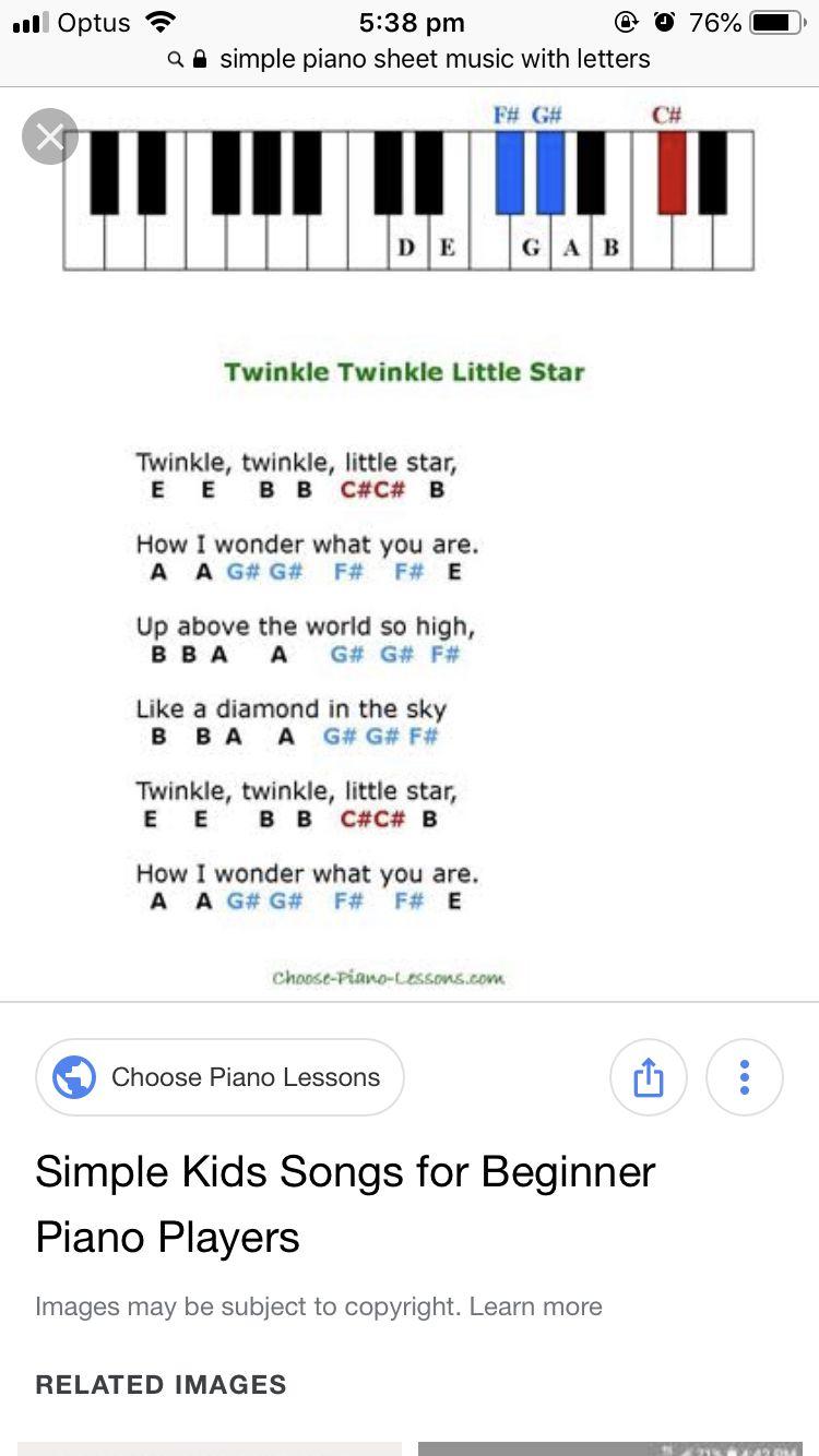 Twinkle Twinkle Little Star Piano Letters : twinkle, little, piano, letters, Music, Sheet, Letters,, Piano,, Twinkle, Little