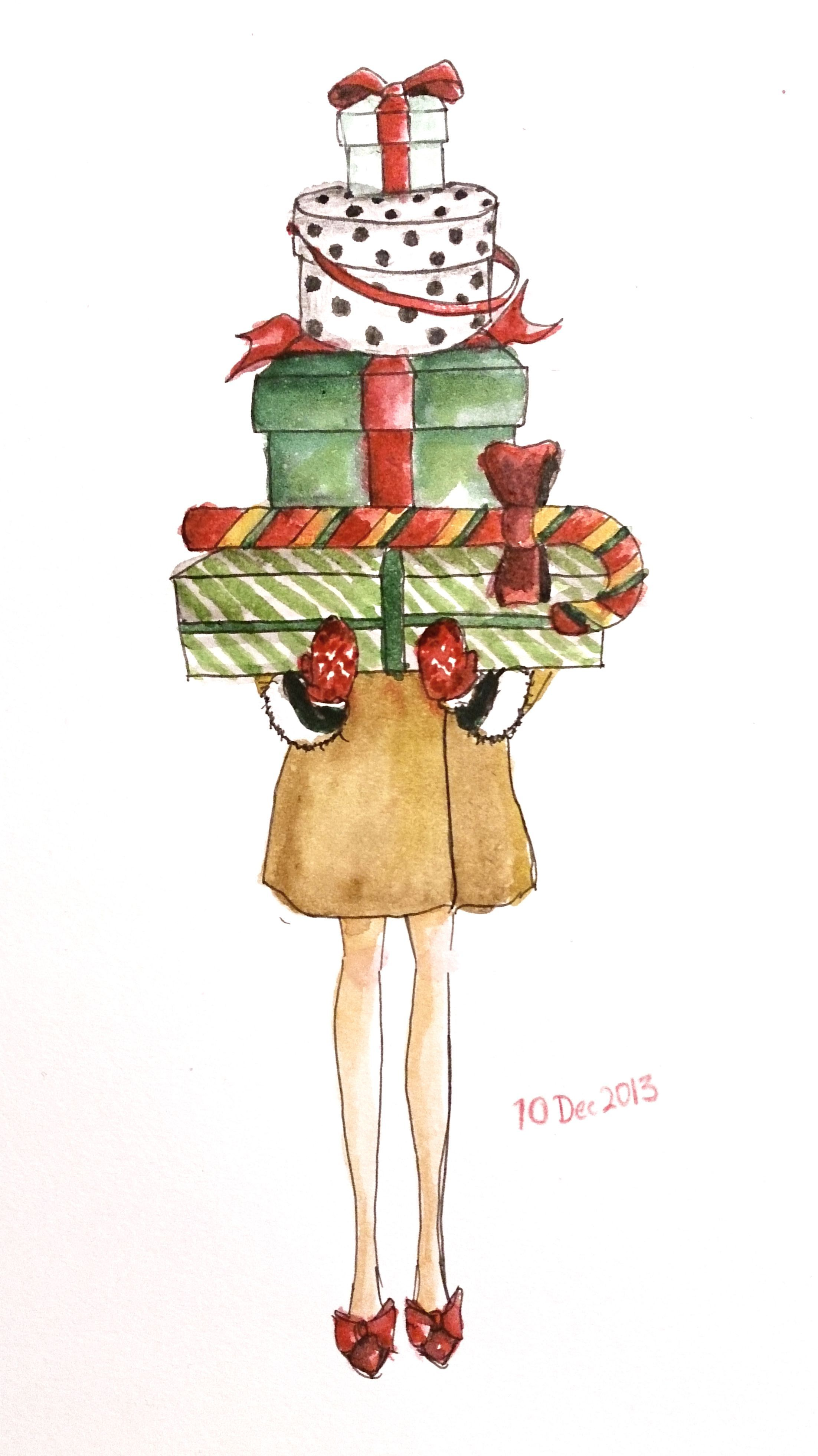 Christmas Love Dec 1 2020 Get ready for CHRISTMAS! Watercolor 1 0 d e c 1 3 IG :LingyiCheung