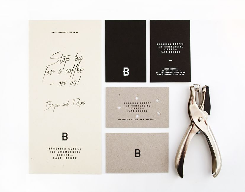 Brand identity and stationery designed by candy black for brooklyn business cards reheart Image collections