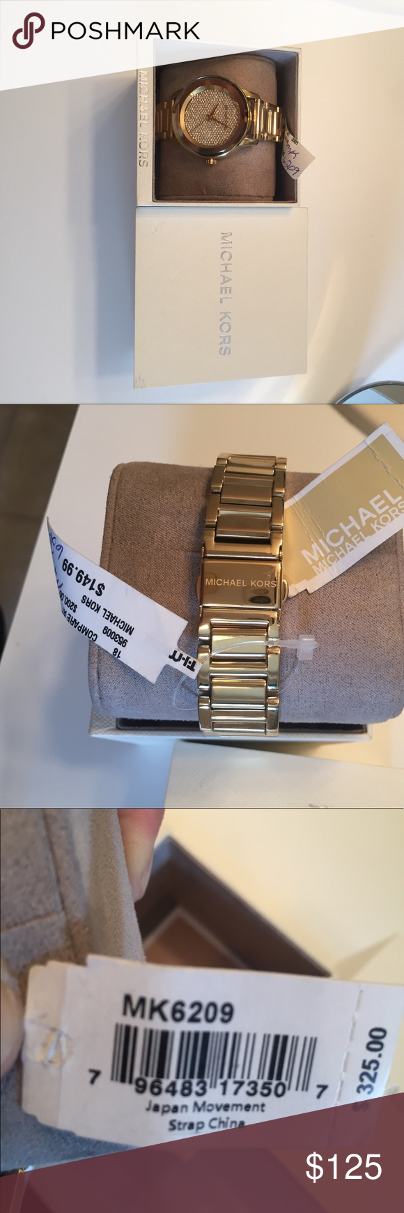 d14fc590e030 NEW Michael Kors MK6209 Kinley Pave Women s Watch NEW Michael Kors MK6209  Kinley Pave Crystal Dial Gold Women s Ladies 42mm Watch Michael Kors  Accessories ...