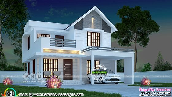 1574 sq-ft awesome architecture home design   Kerala house ...