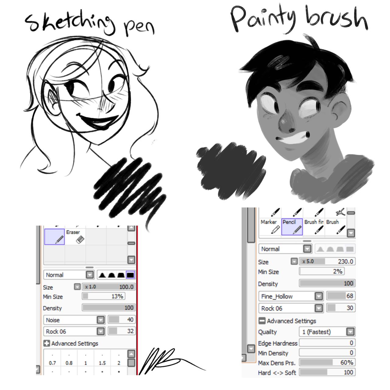 Custom Paint Brush Pens