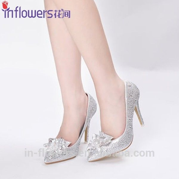 White Crystal Wedding Shoes For Women