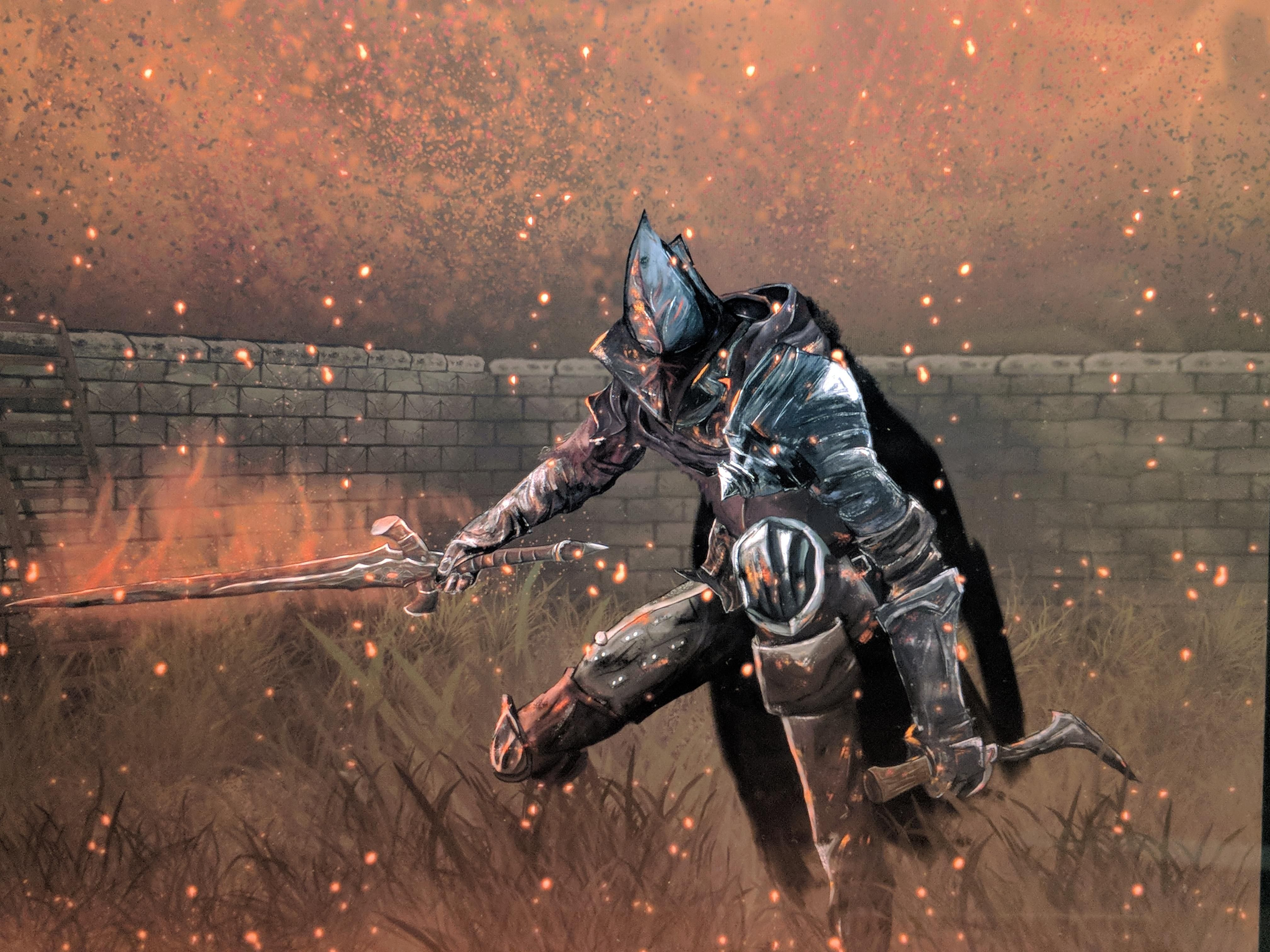 I Painted An Abyss Watcher From Dark Souls 3 Using Photoshop Dark Souls Dark Souls 3 Dark Souls Art