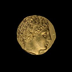 Gold Coin of Philip II of Macedon, Ancient Georgia, Grave 9, ca. 330-300 B.C.