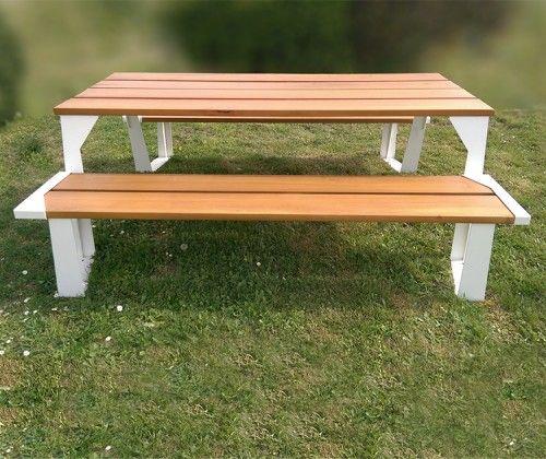 Guyon Table Pique Nique Bois Design Metal Legna Mobilier Urbain