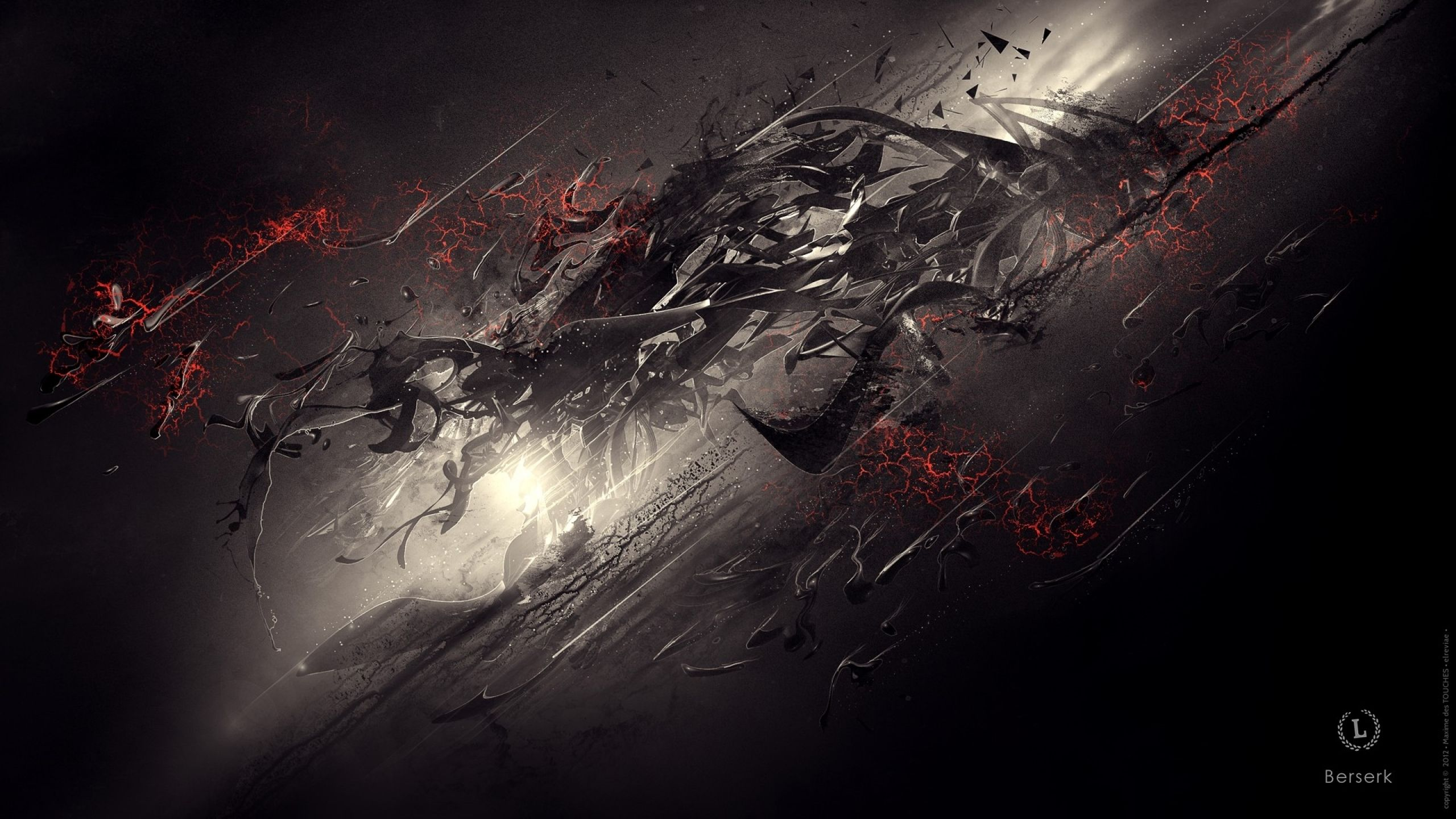 Abstract Dark Berserk Digital Art Wallpaper Hd Animal Wallpaper Digital Art Art Wallpaper
