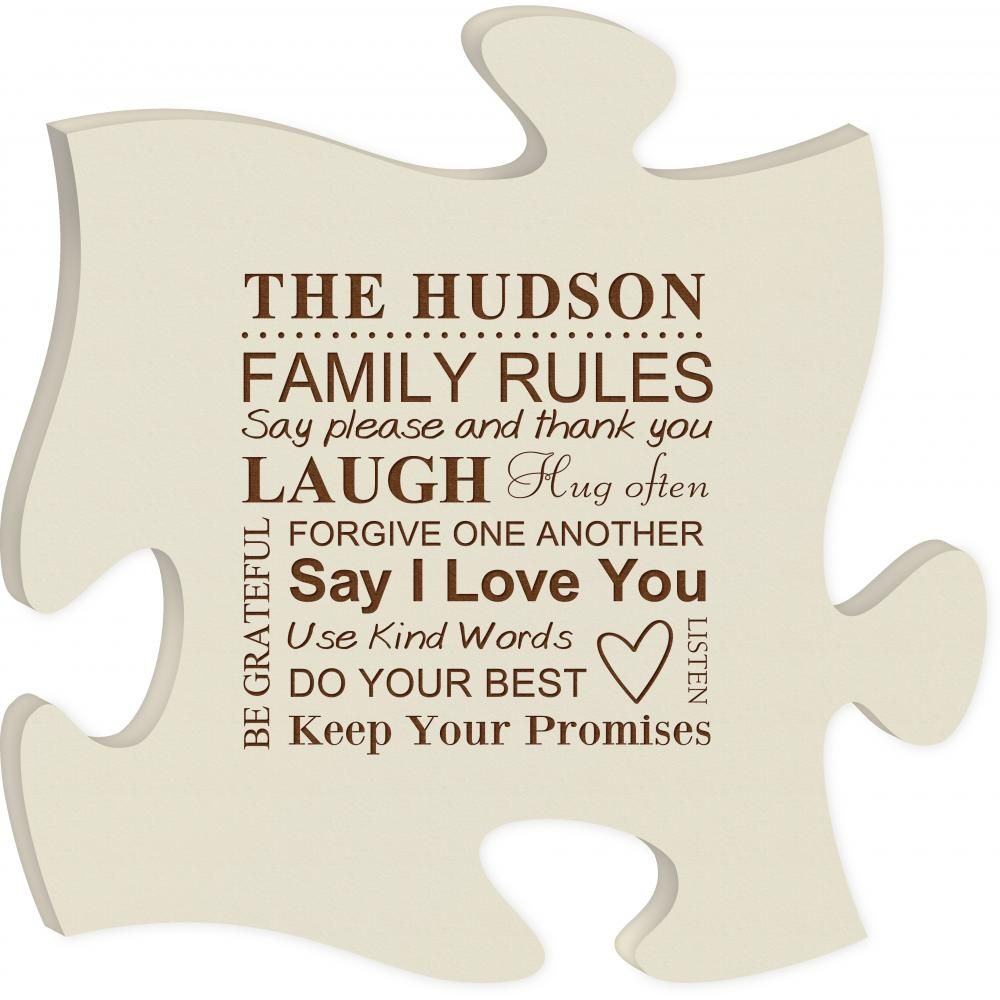 Puzzle Plaque | P. Graham Dunn Available at Yum Yum Tree Adjoin with ...