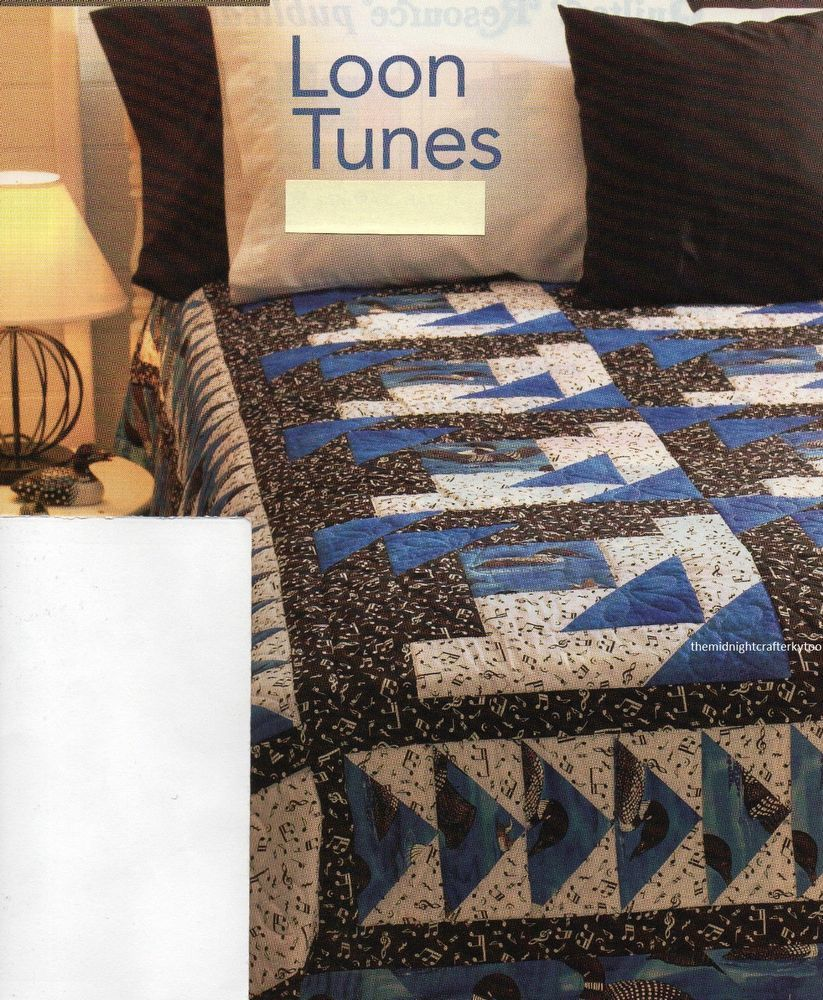 Details about Loon Tunes Quilt Pattern Pieced SH | Quilt patterns ... : loon quilt pattern - Adamdwight.com