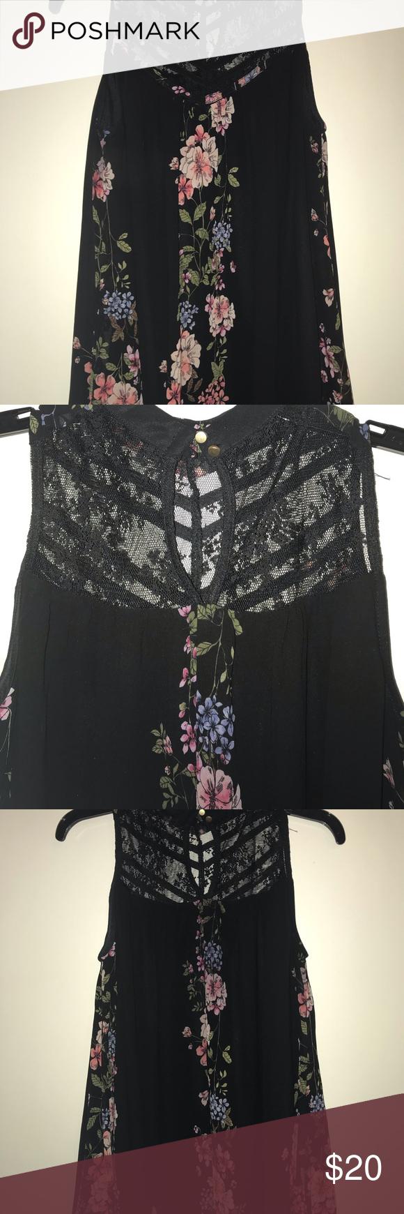 Black Dress With Flowers Black Flower Dress Flower Dresses Dresses [ 1740 x 580 Pixel ]