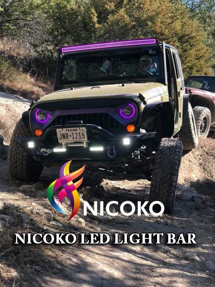 Nicoko 240w 42 inch curved led lights roof led light bar with nicoko 240w 42 inch curved led lights roof led light bar with flowing chasing rgb 10 aloadofball Choice Image