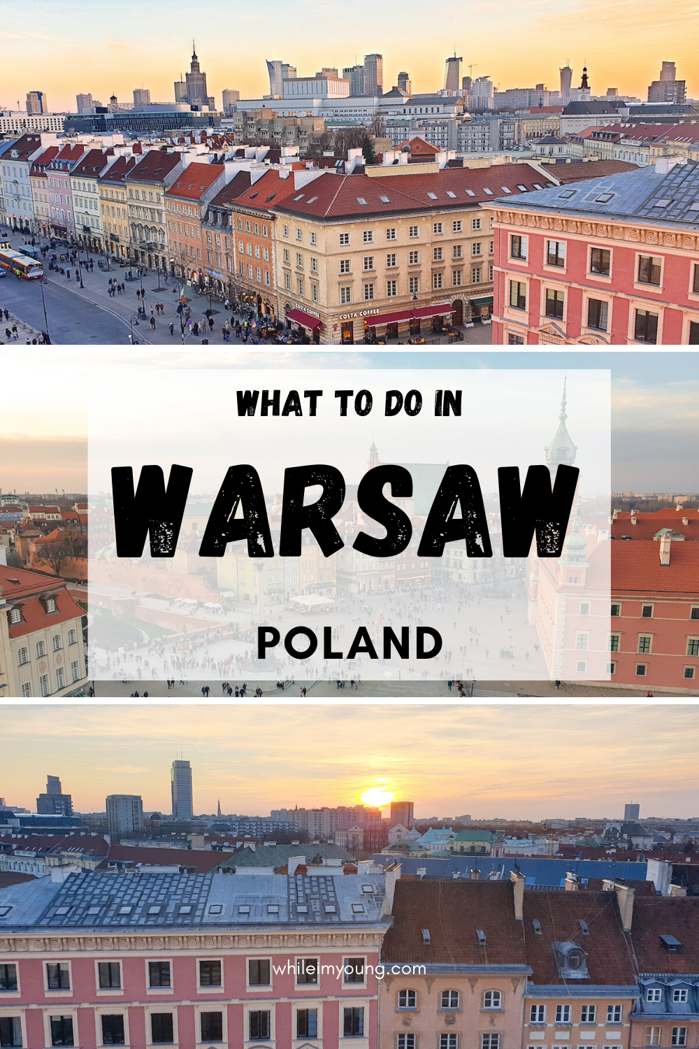 Looking for inspiration for things to do in Warsaw on your Poland city break? Read this comprehensive Warsaw travel guide for a three day Warsaw itinerary covering top attractions and where to eat, drink and stay near the best nightlife spots. Click for more Warsaw pictures and helpful travel tips. Find the best views of Warsaw!  #Warsaw #WhatToDoInWarsaw #Poland #ThingsToDoInPoland #Instagram #Photography #nightlife #bars #food #culture #history #Architecture #sunset