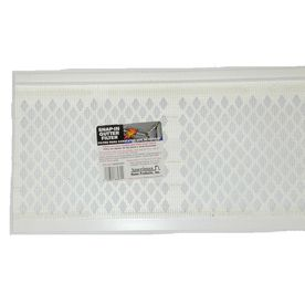 Amerimax White Snap In Gutter Filter 2 10 White Snap In Gutter Filter Attach To Front Top Lip Of Gutter Where Overf Gutter Screens Pvc Gutters Gutter Repair