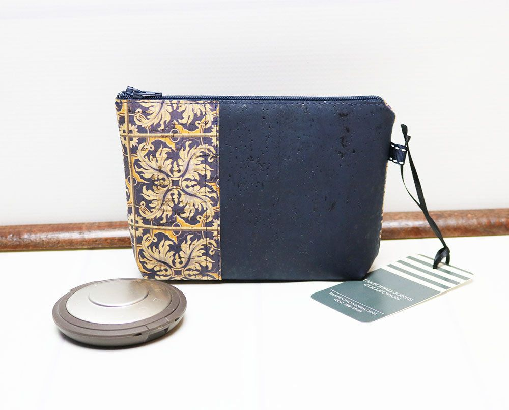 Eco Friendly Sustainable Vegan Gifts Custom Vegan Cork Leather Coin Purse Zipped Change Purse Pouch Wallet