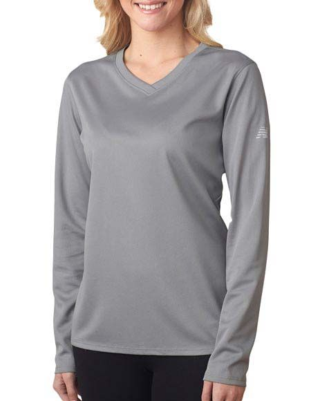 49c6d0c1180e8 Style Code: (NE-NB7119L) NB7119L New Balance Ladies' NDurance Athletic Long- Sleeve V-Neck T-Shirt New Balance's high standards for athletic performance  are ...