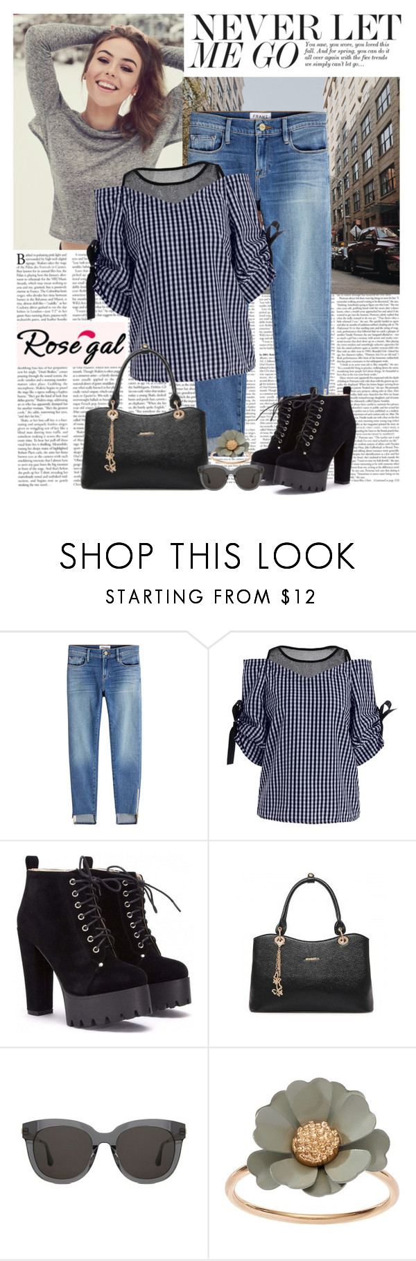 """""""Looking good"""" by polybaby ❤ liked on Polyvore featuring Frame, Gentle Monster and LC Lauren Conrad"""