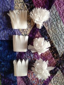 More Crepe Paper Flowers and What I Did With My Other Ones