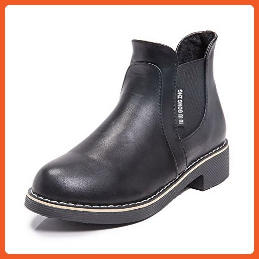 Women's Pull-on High Heels PU Solid Low-top Boots