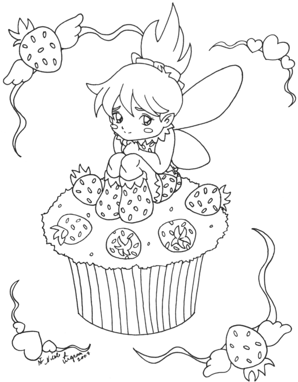 Free Printable Cupcake Coloring Pages For Kids | Clip art, Fabric ...