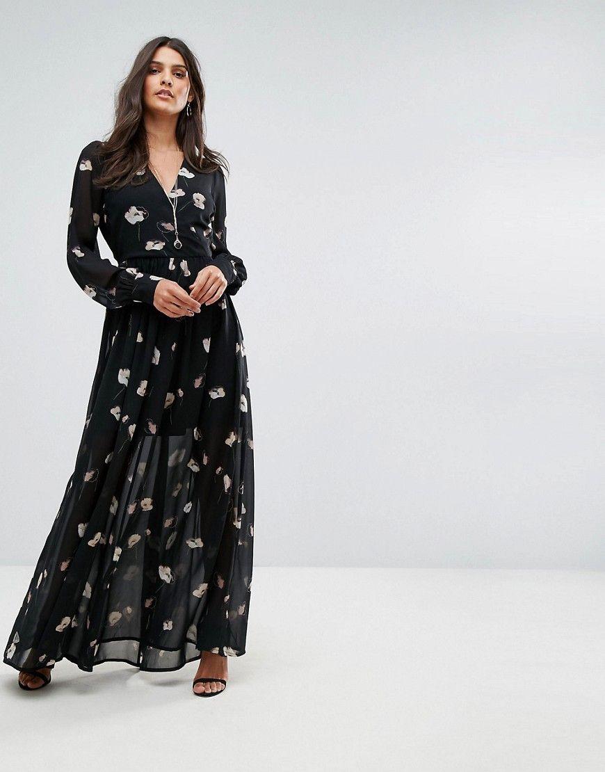 Vero Moda Floral Maxi Dress Black Maxi Dress Maxi Dress Prom Black Maxi Dress [ 1110 x 870 Pixel ]