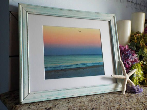 Pastel Beach Decor Beach Photography Beach frame Coastal | My Etsy ...