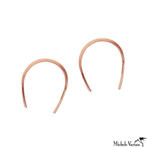 125667745 Horse Shoe Hoops Rose Gold Large. We have 2 jewelry designers on staff at Michele  Varian ...