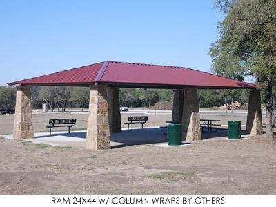 Hip Roof Rectangle Picnic Shelter Ram Hip Roof Shade Structure Pavillion Design