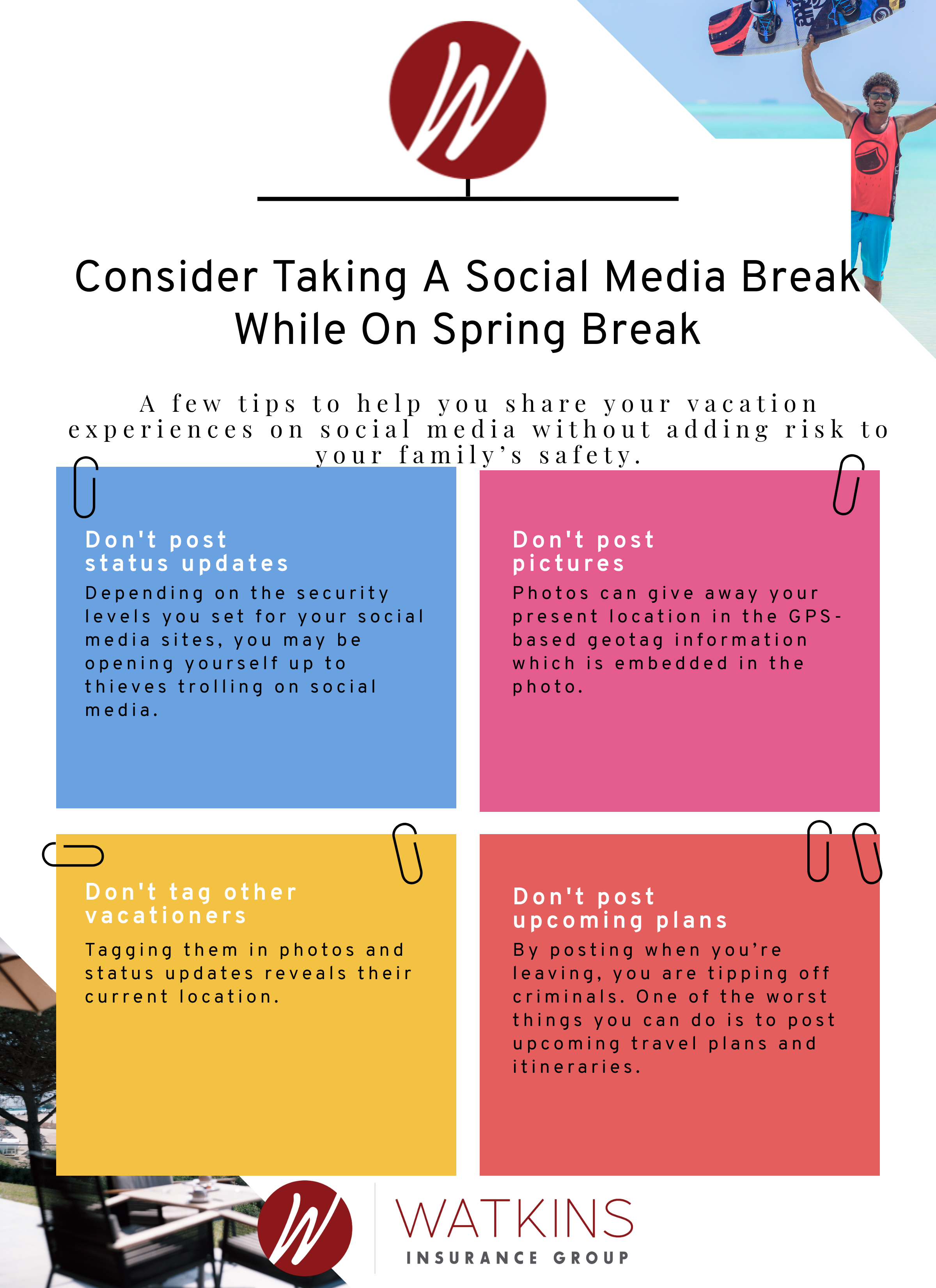 Take A Social Media Break While On Spring Break Social Media