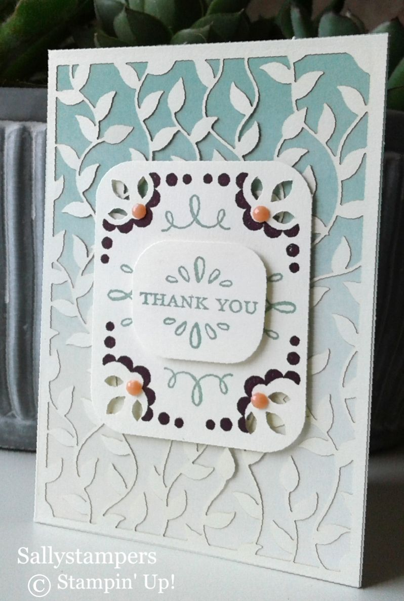 Delightfully Detailed Quick Cards Sallystampers Stamping Up Cards Card Craft Paper Cards