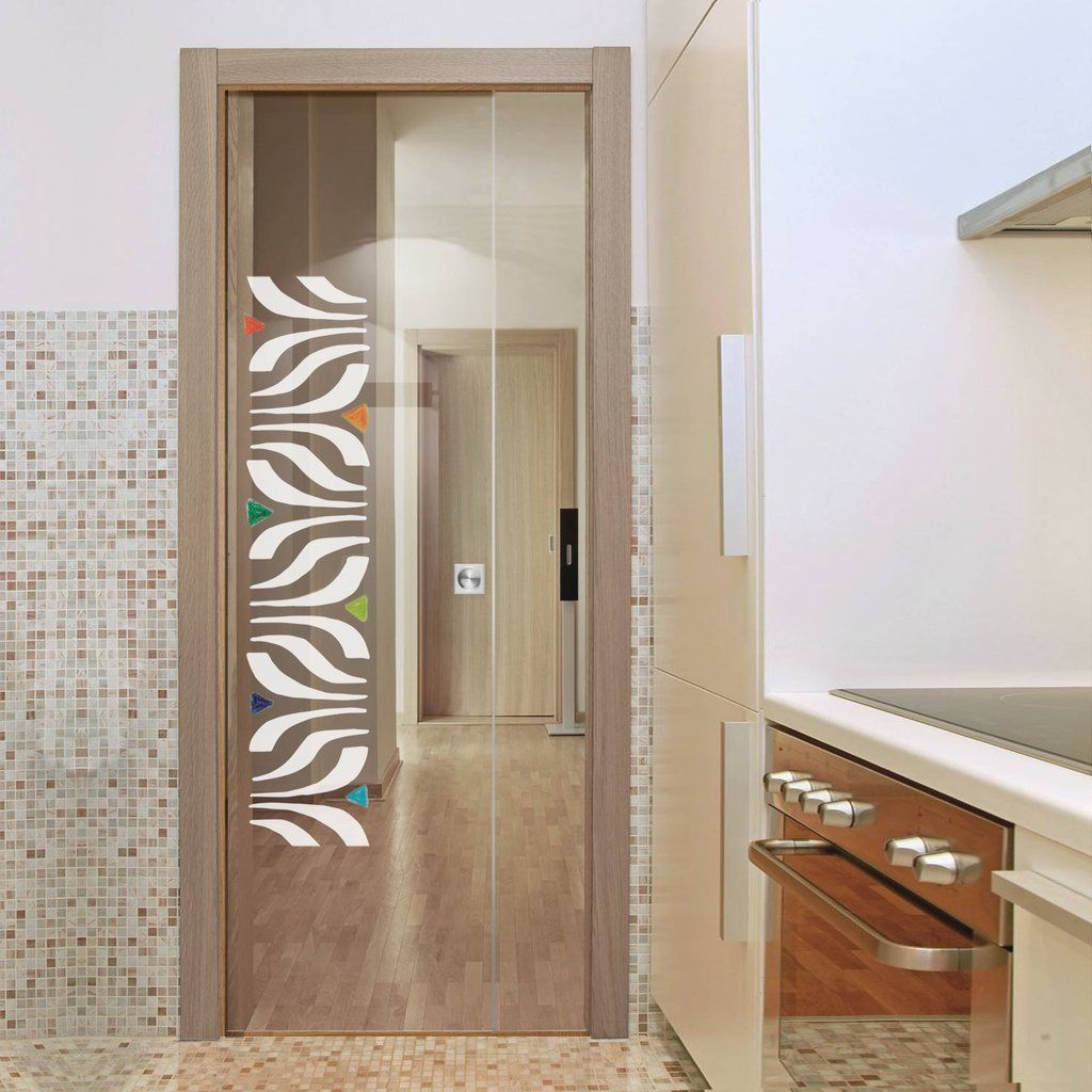 Eclisse 10mm Ala Murano Design On Clear Or Satin Glass Pocket Door