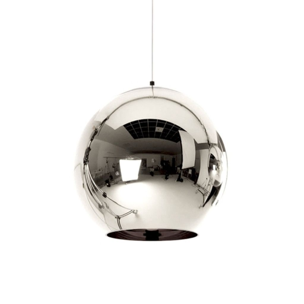 Reproduction Of Tom Dixon Shade Mirror Ball Pendant Lamp   Chrome | GFURN