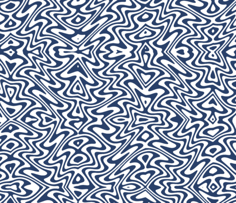 butterfly swirl - navy and white fabric by weavingmajor on Spoonflower - custom fabric