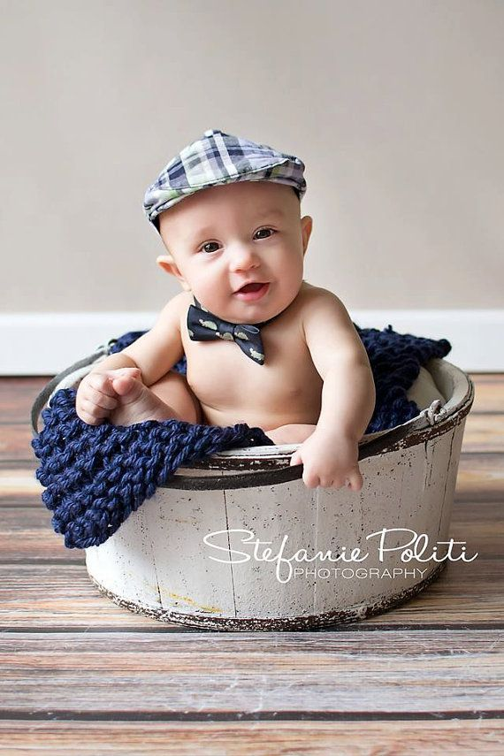 Prop blanket navy knit newborn photography prop basket