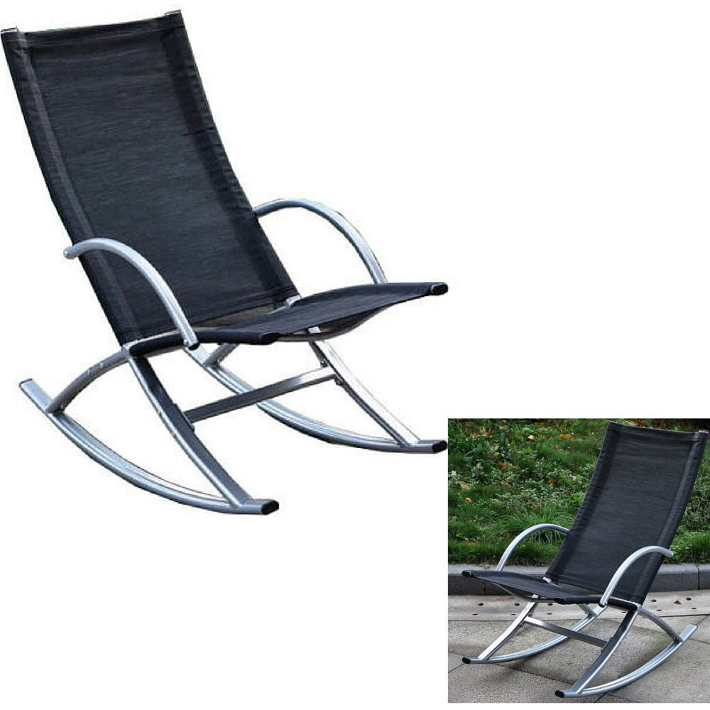 Outdoor Rocking Lounger Chair Recliner Patio Garden Furniture Seat Yard  Deck Bbq