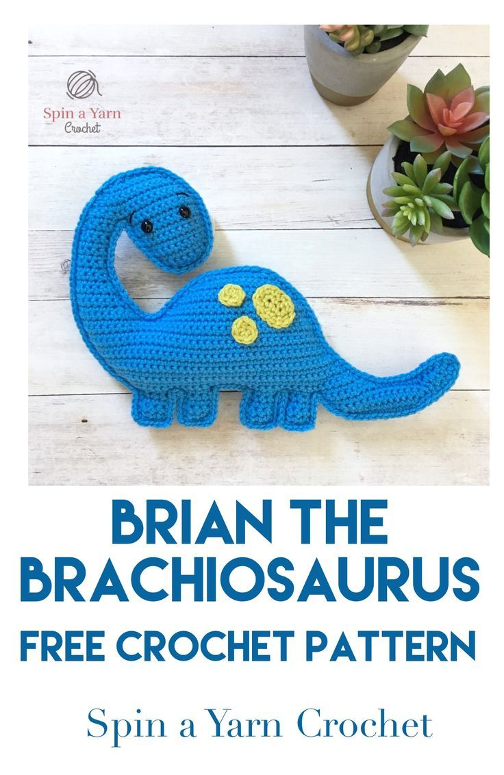 Brachioaurus Free Crochet Pattern #crochetdinosaurpatterns