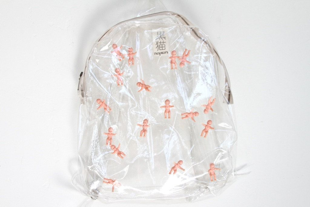 CLEAR plastic pop baby backpack
