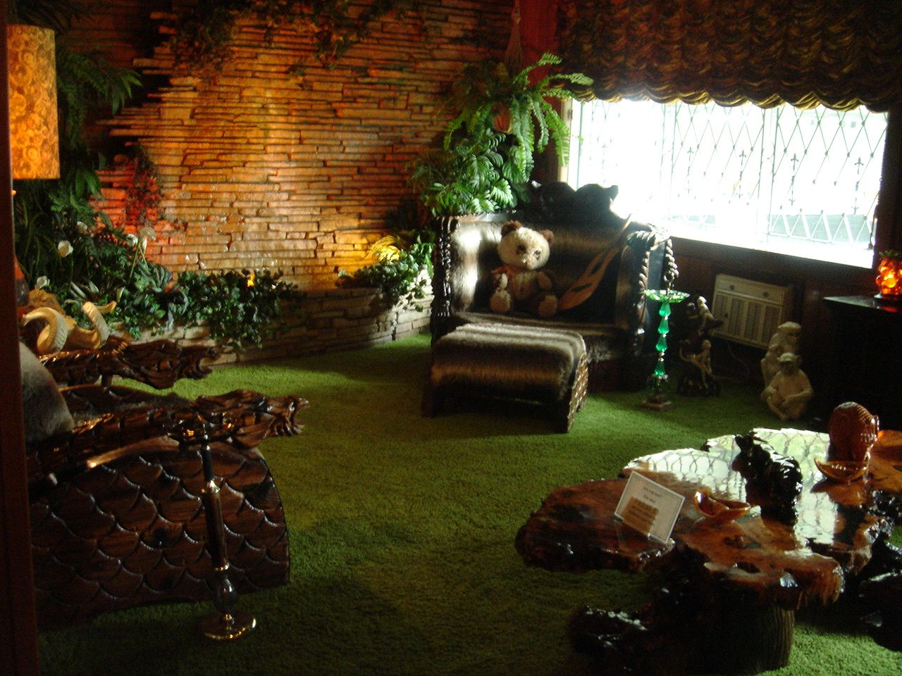 The Jungle Room Included An Indoor Waterfall Jungle Room