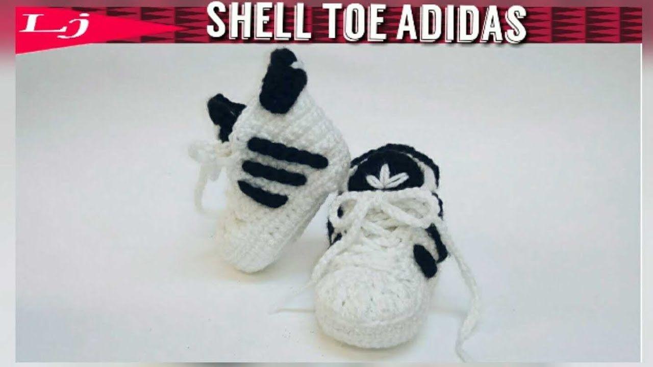 Crochet Adidas Baby Sneakers - YouTube | B U T Y SZYDELKOWE ...