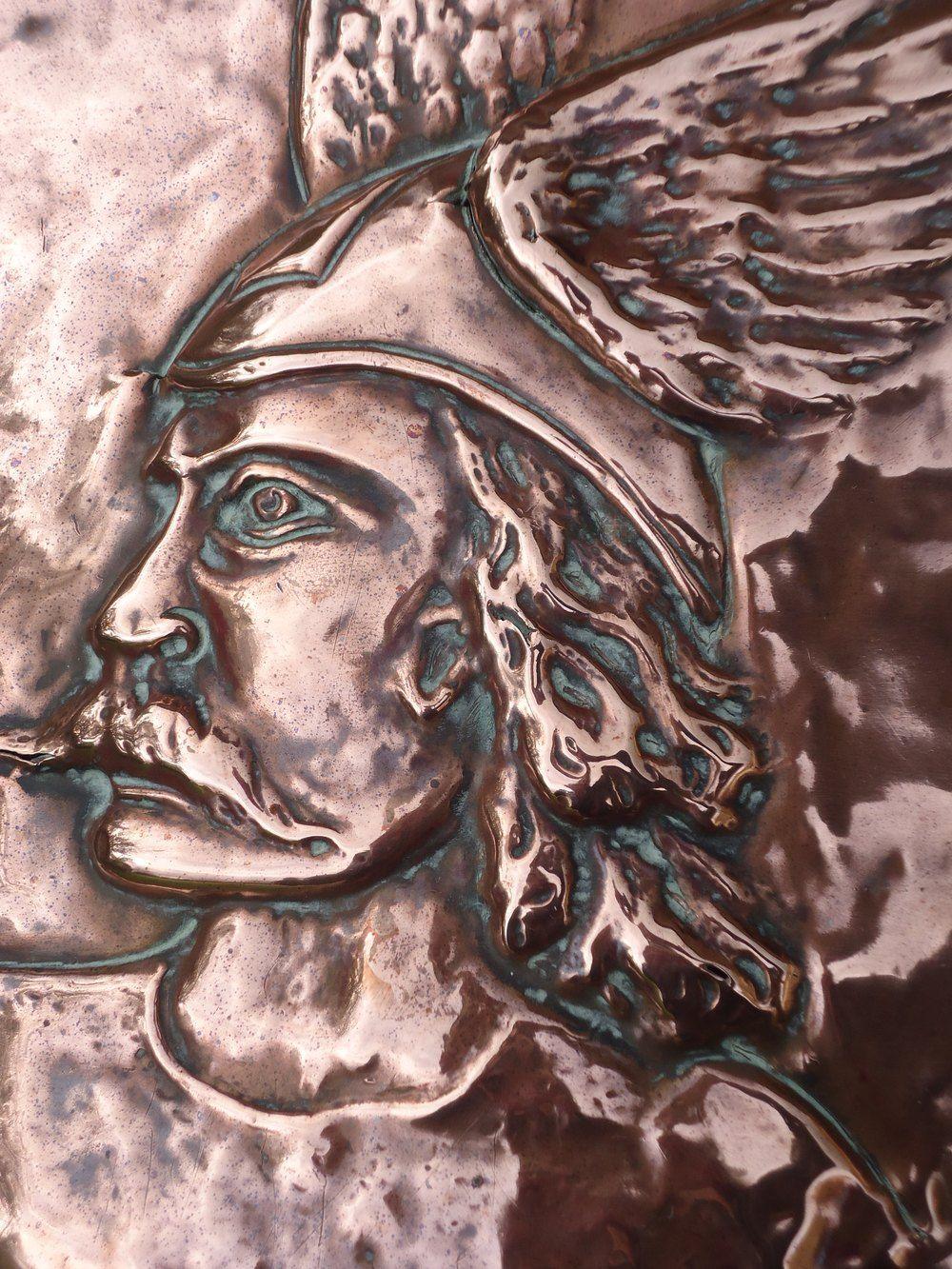 Antiques Atlas - Stunning Arts & Crafts Coal Bin With Warrior