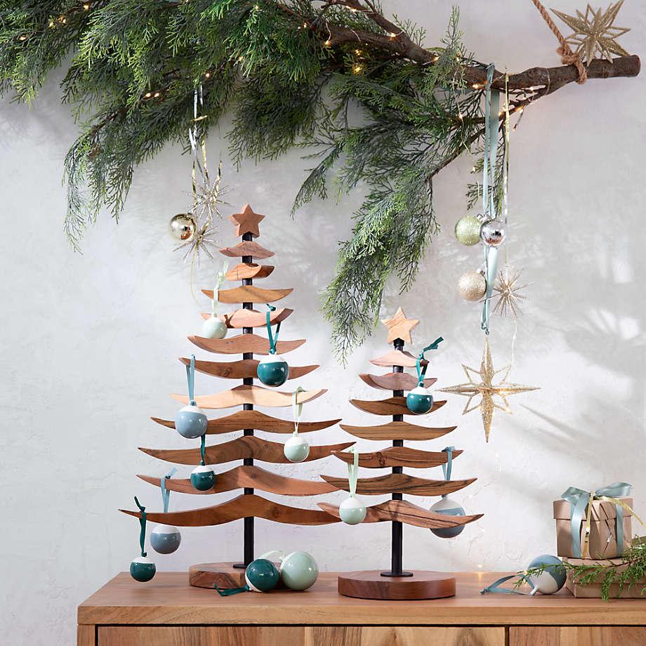 Hanging Branch Decor Crate And Barrel Branch Decor Christmas Decor Diy Christmas Tree Ornaments