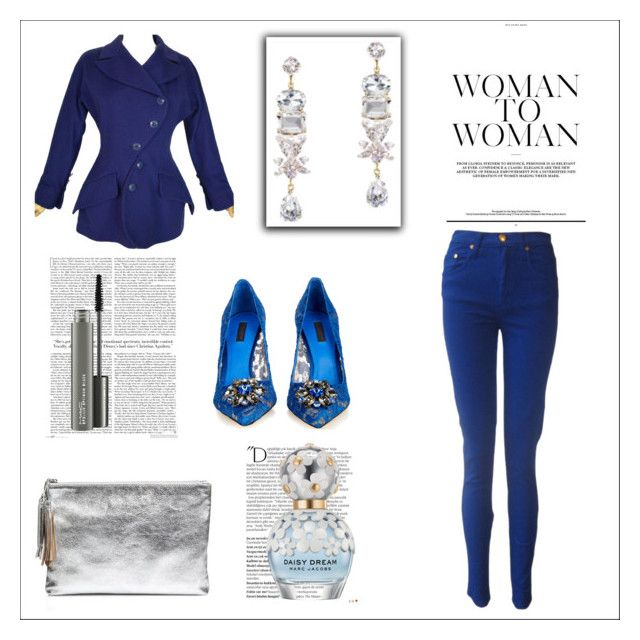 """Cobalt With Silver"" by michelle858 ❤ liked on Polyvore featuring Fred Hayman, Dolce&Gabbana, Loeffler Randall, Balmain, Marc Jacobs and MAC Cosmetics"