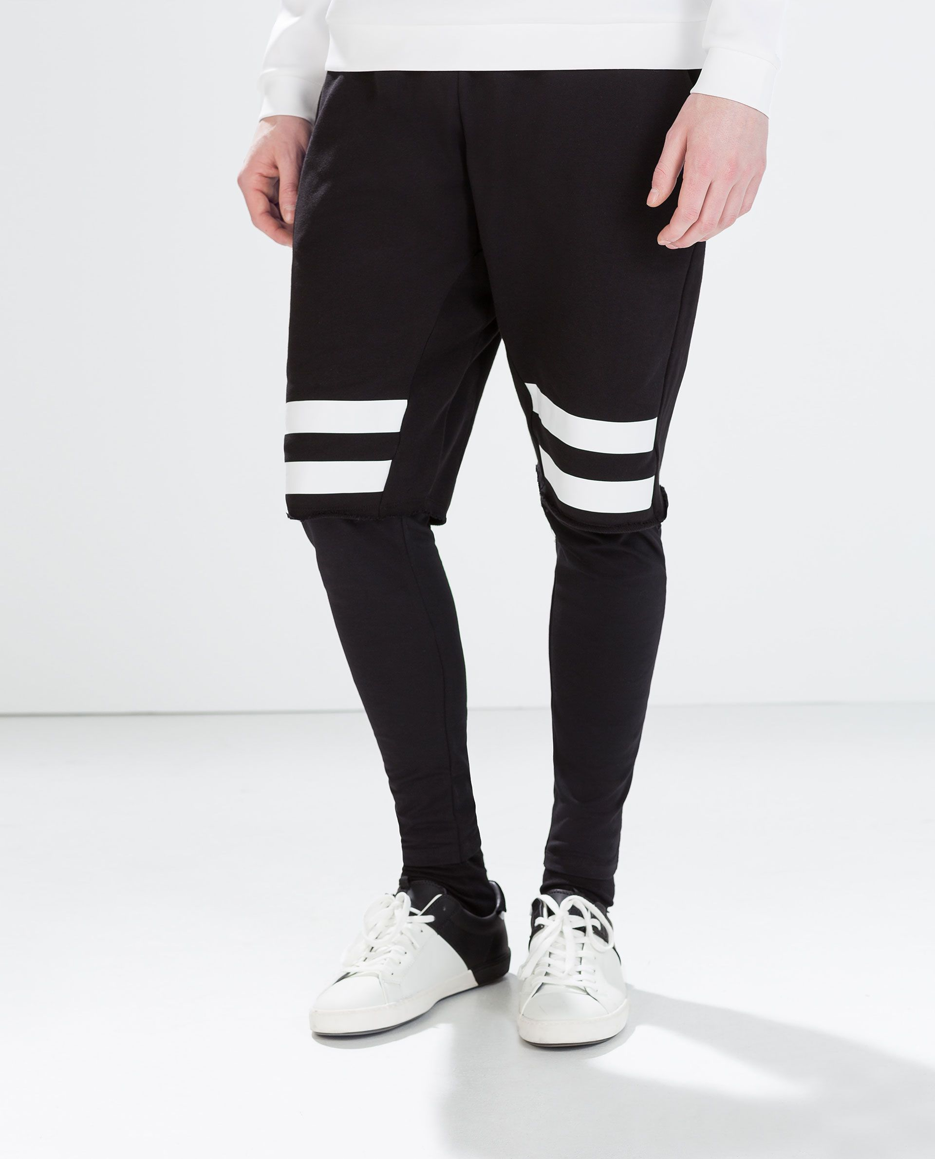 ZARA - MAN - STRIPED SHORTS WITH LEGGINGS | Striped shorts ... - photo#23