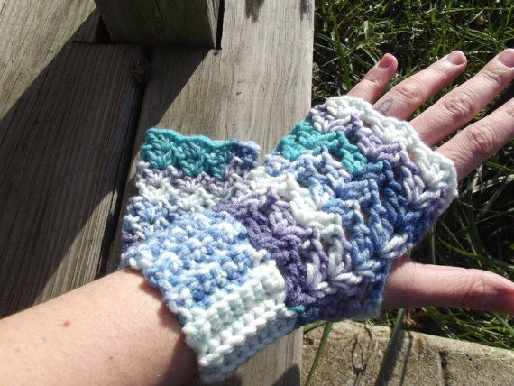 Seaspray Fingerless Gloves by CraftCoalition on Etsy, $15.00
