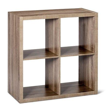 4 Cube Organizer Shelf Espresso Brown 13 Threshold Shelves