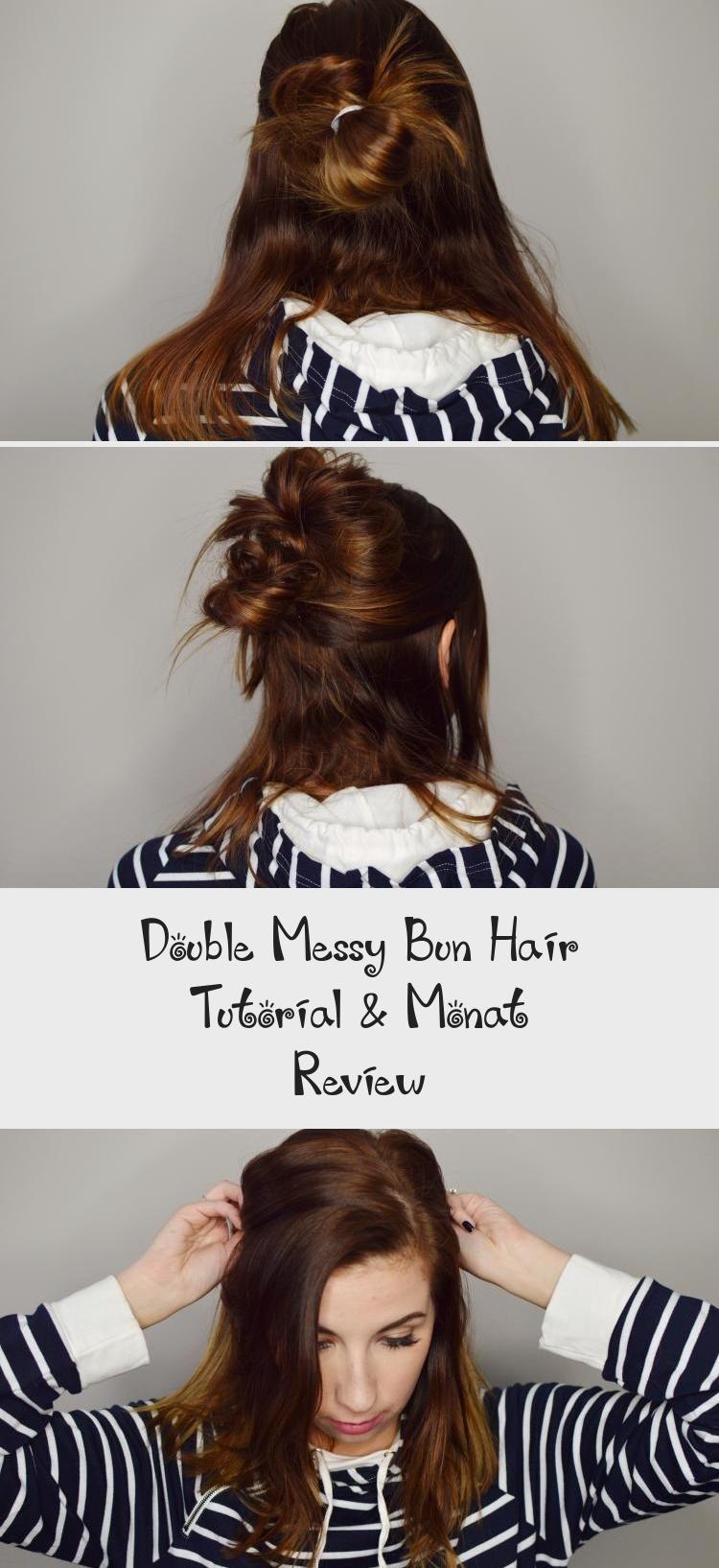 Double Messy Bun Hair Tutorial & Monat Review in 2020