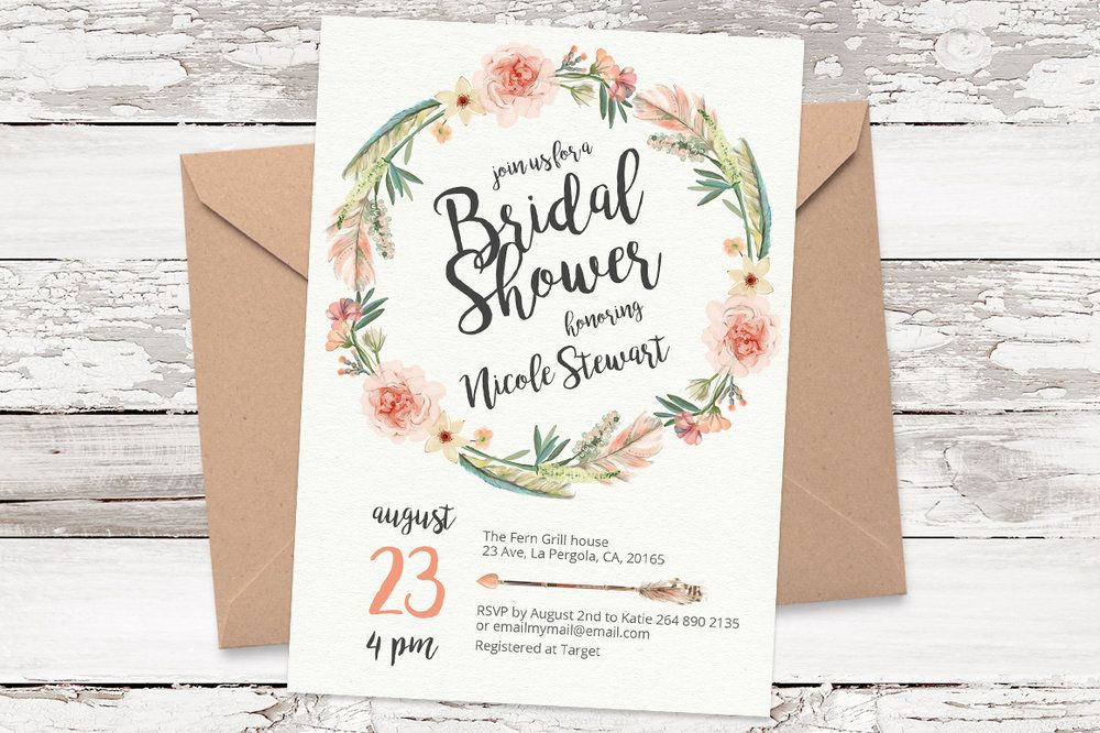 Enchanted Garden Wedding Theme Floral Inspiration - with Amie Bone - invitation template bridal shower