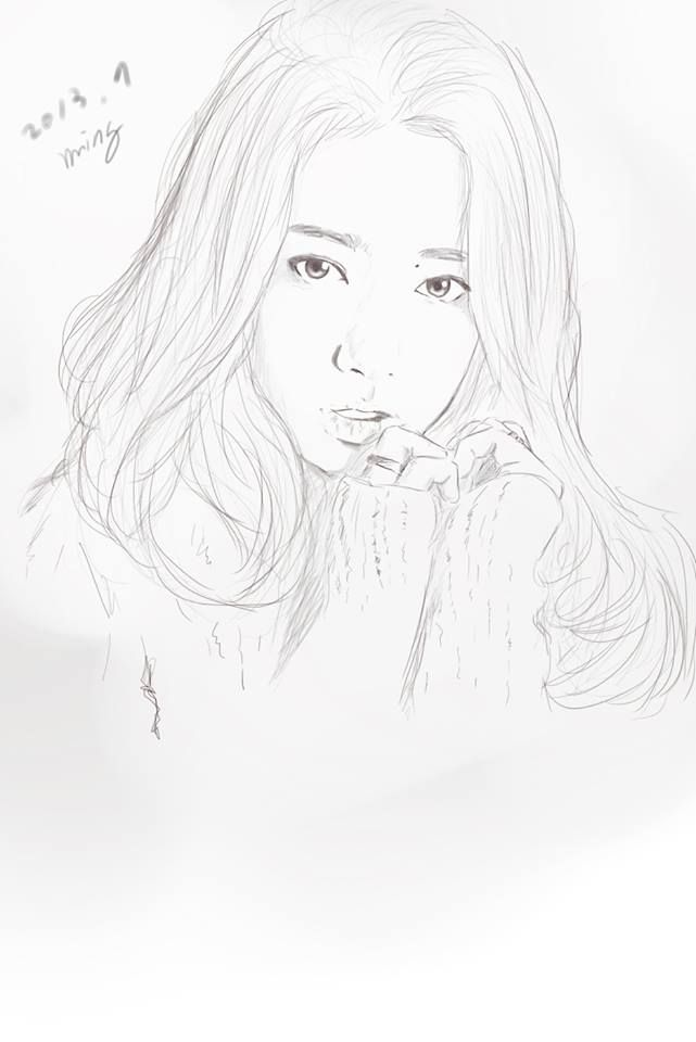 Park Shin Hye Drawing In Design By Dessin Myriam Creative Art In Design