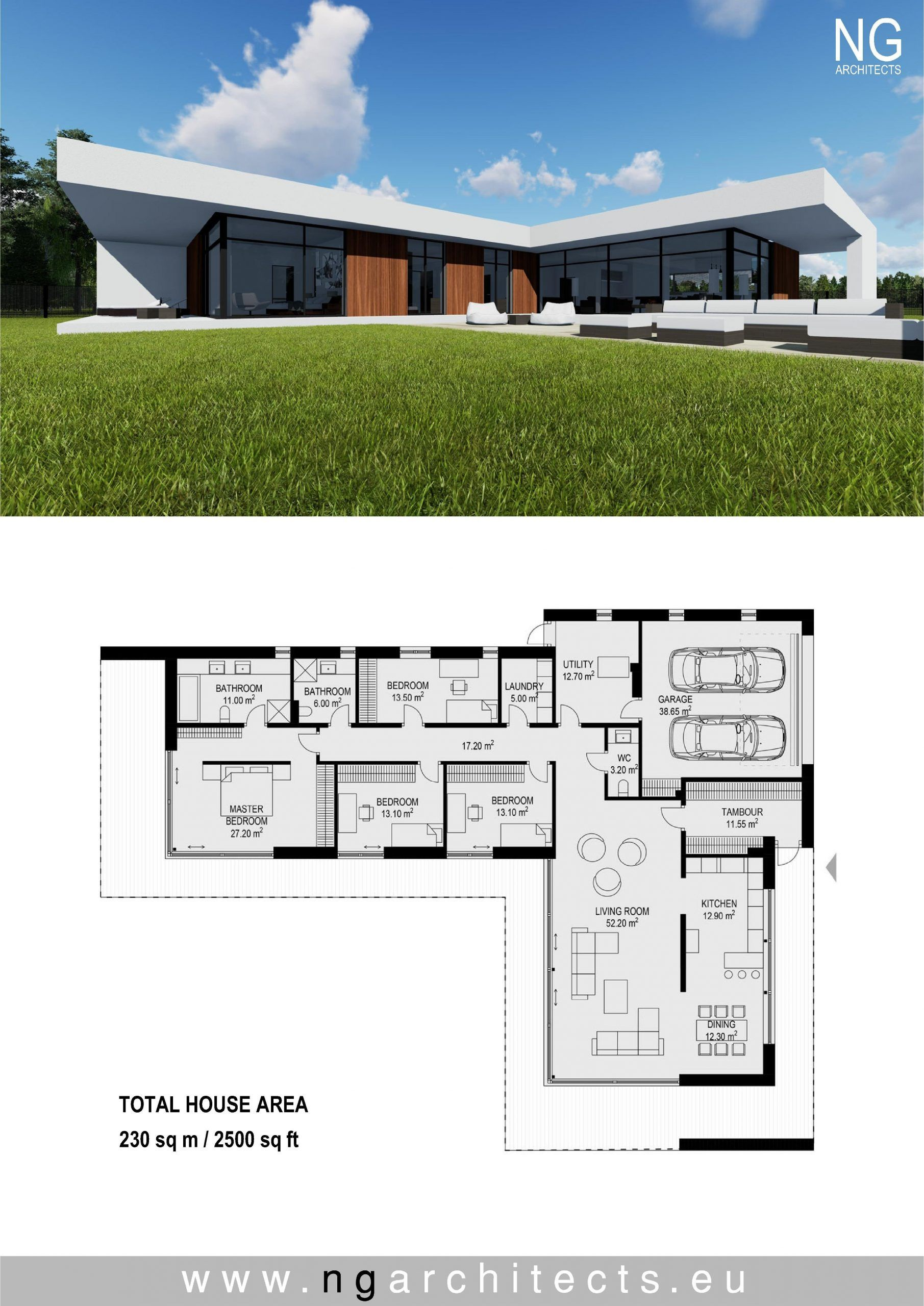 L Shaped House Plans Modern 2021