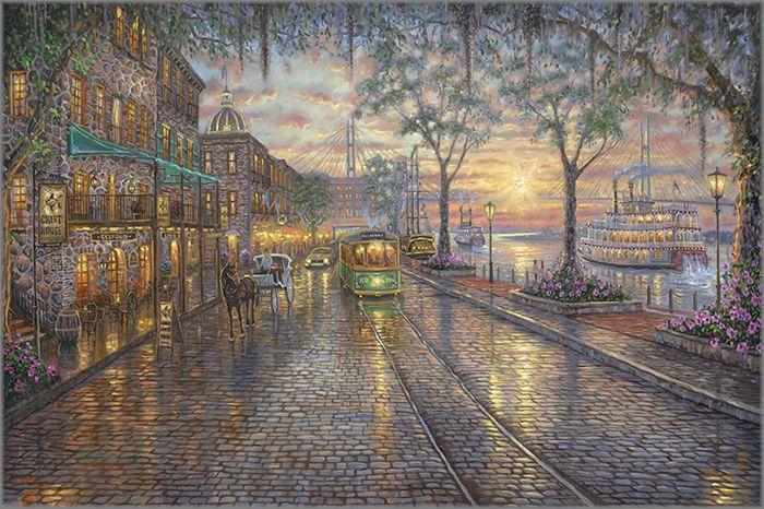 Robert Finale Gallery Robert Finale Savannah River Street Cross Paintings Painting Diamond Painting